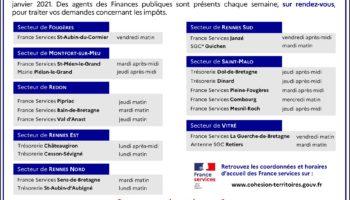 Nouveau réseau de proximité des Finances publiques – Offre d'accueil sur rendez-vous